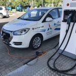 В Астане открылась первая промышленная станция для зарядки электромобилей