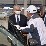 Глава государства проверил готовность к запуску казахстанского завода по производству легковых автомобилей Hyundai